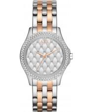 Armani Exchange AX5249 Damer silver och ros guldpläterad armband klänning klocka