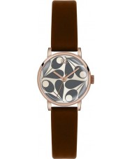 Orla Kiely OK2082 Damer Patricia grädde brunt läder Strap Watch