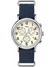 Timex TW2P62100 Weeke blå rem chronographklockan