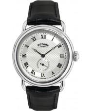 Rotary GS02424-21 Mens klockor Sherlock Holmes silver svart klocka
