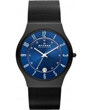 Skagen T233XLTMN Mens Aktiv blått och svart titan klocka