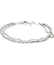 Fossil JA6775040 Damer mode silver mässing pärlstav armband