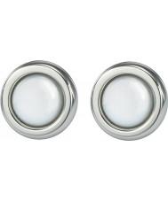 Skagen JESW020 Damer vit pärla stål örhängen