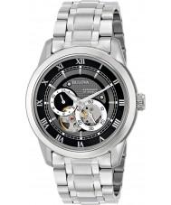 Bulova 96A119 Mens automatisk silver stål armband klocka