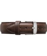 Daniel Wellington DW00200023 Mens klassiska bristol 40mm silver brunt läder extraremmen
