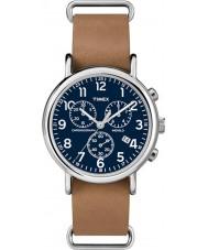 Timex TW2P62300 Weeke brun rem chronographklockan