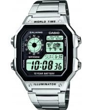 Casio AE-1200WHD-1AVEF Samling världstid silver stål watch