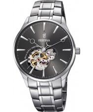 Festina F6847-2 Mens automatisk silver stål armband klocka