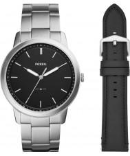 Fossil FS5451SET Mens minimalistisk klockgåva uppsättning
