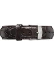 Daniel Wellington DW00200025 Mens klassisk york 40mm silver mörkbrunt läder reservband
