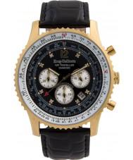 Krug-Baumen 600206DS Mens luft resande diamant klocka