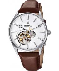 Festina F6846-1 Mens automatisk brunt läder Strap Watch