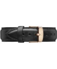 Daniel Wellington DW00200007 Mens klassiska 40mm Sheffield steg guld svart läder reservband