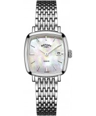Rotary LB05305-07 Damer klockor Windsor silver tonen stål watch