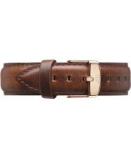 Daniel Wellington DW00200006 Mens klassiska 40mm st Mawes steg guld ljusbrun läder reservband