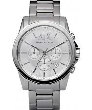 Armani Exchange AX2058 Män silver stål kronograf klänning klocka