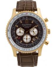 Krug-Baumen 600213DS Mens luft resande diamant klocka