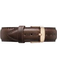 Daniel Wellington DW00200009 Mens klassiska Bristol 40mm steg guld brunt läder reservband