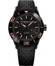 Raymond Weil 2760-SB2-20001 Mens frilansare dykare svart gummiband klocka