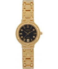 Krug-Baumen 5118DL Charleston 4 diamant svart urtavla guld band