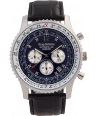 Krug-Baumen 600508DS Mens luft resande diamant klocka