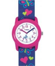 Timex T89001 Barn fjärilar hjärtan elastiskt tyg Strap Watch