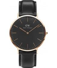 Daniel Wellington DW00100127 Klassiskt svart sheffield 40mm klocka