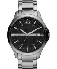 Armani Exchange AX2103 För män svart silverarmband klänning klocka