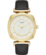 Kate Spade New York KSW1224 Ladies tv fallet svart läderrem klocka