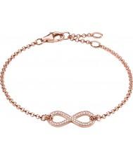 Thomas Sabo A1310-416-14 Ladies 18k ros guldpläterade evigheten av kärlek oändlighet armband