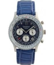 Krug-Baumen 400507DS Luft resenären diamant blå urtavla blå rem