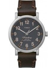 Timex TW2P58700 Man waterbury brunt läderband waterbury watch