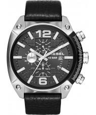 Diesel DZ4341 Man overflow kronograf svart läderrem klocka