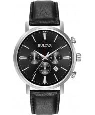 Bulova 96B262 Mens Aerojet silver svart chronographklockan
