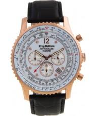 Krug-Baumen 600702DS Mens luft resande diamant klocka