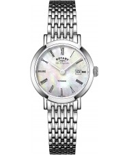 Rotary LB90153-07 Damer les origin Windsor vit pärla silver tonen watch