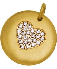 Edblad 31630106 Damer charmentity hjärta guldpläterade stora hängande