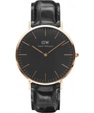 Daniel Wellington DW00100129 Klassiskt svart läsning 40mm klocka
