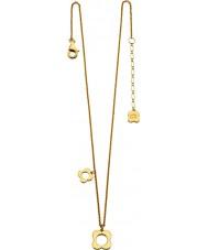 Orla Kiely N4040 Damer sterling silver guldpläterade fyra pekade blomma halsband
