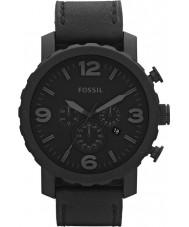 Fossil JR1354 Mens nate kronograf svart klocka
