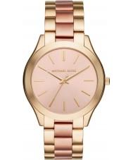 Michael Kors MK3493 Damer smal bana guld och rosa armband klocka