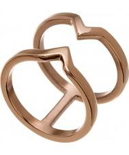 Edblad 116130176-S Damer seger steg guldpläterad ring - storlek n (s)
