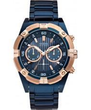 Guess W0377G4 Mens ryck blå stål chronographklockan