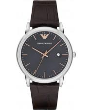 Emporio Armani AR1996 Mens klänning mörkbrunt läder Strap Watch