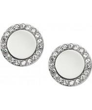 Fossil JF01791040 Ladies Classic Silver stål speglas örhängen