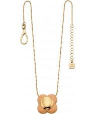 Orla Kiely N4023 Damer seriekoppling 18ct guld rodna blomma hängande halsband