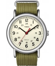 Timex T2N651 Mens naturliga oliv weeke slinka igenom klocka