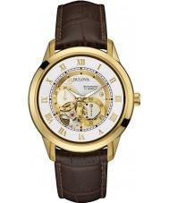 Bulova 97A121 Mens automatisk brun chronographklockan