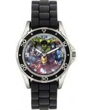 Disney AVG3529 Marvel pojkar klocka med svart silikonband