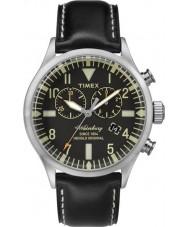 Timex TW2P64900 Mens arv svart läderrem waterbury watch